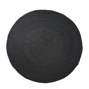 Ferm Living Eternal round jute rug, large, black