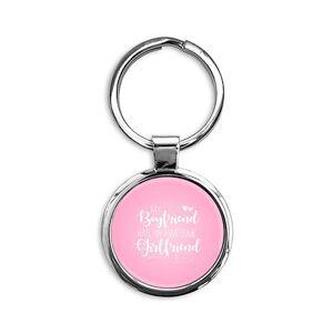 CafePress Boyfriend has Awesome Girlfriend Round Keychain