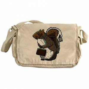 CafePress Business Squirrel Messenger Bag