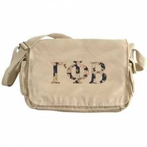 CafePress Gamma Phi Beta Flower Messenger Bag