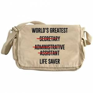 CafePress World's Greatest Life Saver Messenger Bag