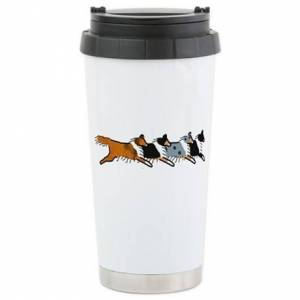 CafePress Group O' Shelties Stainless Steel Travel Mug