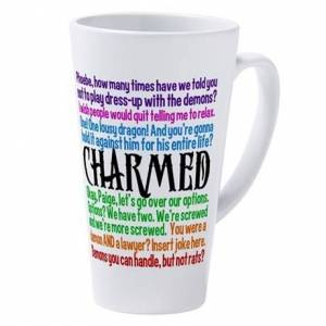 CafePress Charmed Quotes 17 oz Latte Mug
