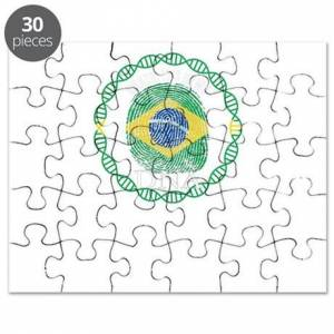 CafePress Brazil Its In My DNA Puzzle