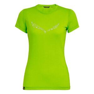 Salewa Solidlogo Dri-release Short Sleeve T-shirt DE 32 Tendershot Melange; female,
