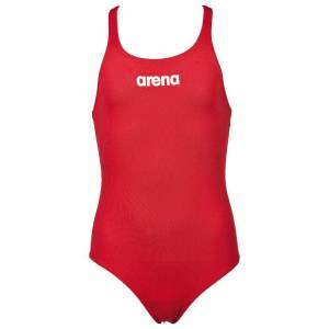 Arena Solid Swim Pro; female,  size: 6-7 Years, Red White