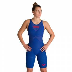 Arena Powerskin Carbon Glide Open Back Competition Swimsuit FR 30 Ocean Blue; female,