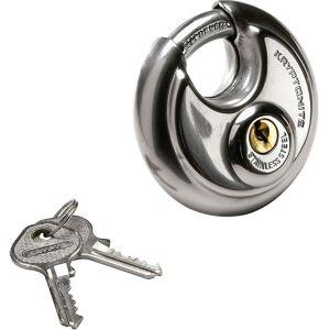 Kryptonite Disc S.s Key Padlock 9.5x70 Mm 9.5 x 70 mm Silver; unisex,  size: , Silver