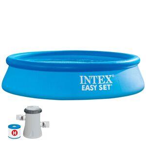 Intex Easy Set With Filter Cartridge Pump 244x61 Cm Pool 244 x 61 cm Blue; unisex,