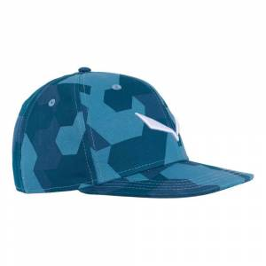 Salewa Puez Camou Cap One Size Poseidon / Dark Denim / Captains Blue; male,