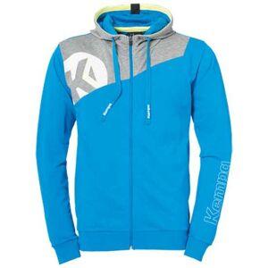 Kempa Core 2.0 Full Zip Sweatshirt M Kempa Blue / Dark Grey Melange; male,