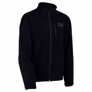 Daiwa Zipped Fleece Jumper M Black; male,