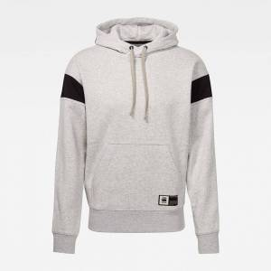 G-star Stor Sport Hooded Ribbed Neck; male,  size: S, Grey