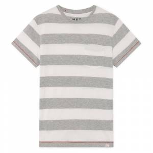 Hackett Block Stripe M White / Grey; male,  size: , White