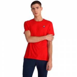 Le Coq Sportif Essentials N2 Short Sleeve T-shirt M Pure Red; male,