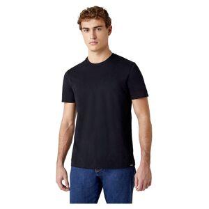 Wrangler 2 Units Short Sleeve T-shirt M Black; male,