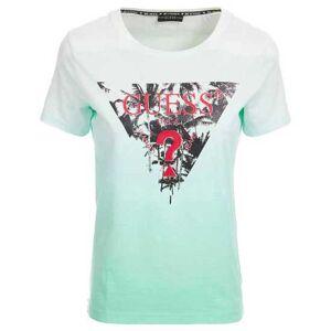 Guess Palms Short Sleeve T-shirt L Pink Deep Dye; female,