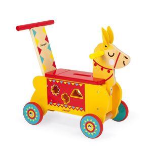 Janod Llama Ride-on; unisex,  size: 12 Months-3 Years, Multicoloured