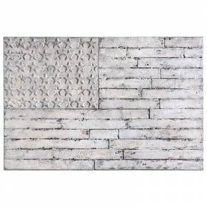 Uttermost Blanco American Wall Art in Distressed White