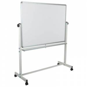Flash Furniture Hercules 63 x 53 Double Sided Mobile Whiteboard in White