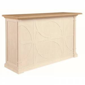 Dwellings Countryside Wood Mobile Bar in White