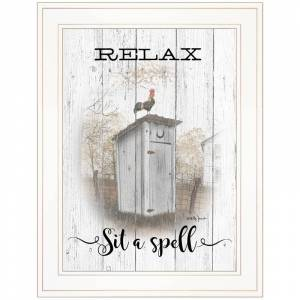 Trendy Decor4U RelaxSit a Spell By Billy Jacobs Printed Wall Art Wood Multi-Color