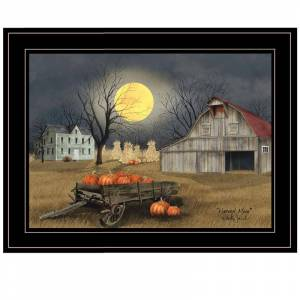 Trendy Decor4U Harvest Moon By Billy Jacobs Printed Framed Wall Art Wood Multi-Color