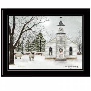 Trendy Decor4U I Heard the Bells on Christmas By Billy Jacobs Printed Art Wood Multi-Color