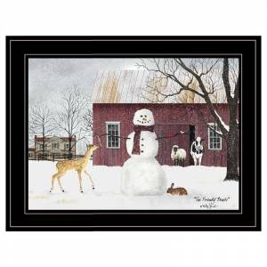 Trendy Decor4U The Friendly Beasts By Billy Jacobs Printed Wall Art Wood Multi-Color