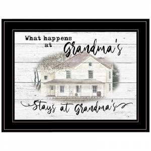 Trendy Decor4U Stays at Grandmas By Billy Jacobs Printed Wall Art Wood Multi-Color