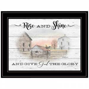 Trendy Decor4U Rise and Shine By Billy Jacobs Printed Wall Art Wood Multi-Color