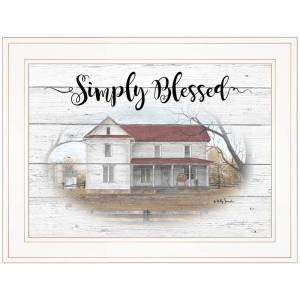 Trendy Decor4U SIMPLY BLESSED By Billy Jacobs Printed Wall Art Wood Multi-Color