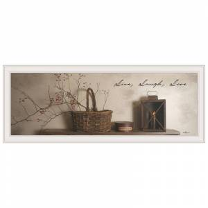 Trendy Decor4U Live Laugh and Love By Billy Jacobs Printed Wall Art Wood Multi-Color