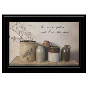 Trendy Decor4U He is the Potter By Billy Jacobs Printed Wall Art Wood Multi-Color