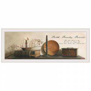 Trendy Decor4U Faith Family Friends By Billy Jacobs Printed Wall Art Wood Multi-Color