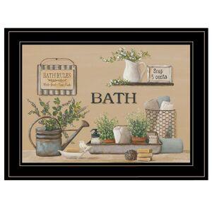 Trendy Decor4U Farmhouse Bath II By Pam Britton Printed Wall Art Wood Multi-Color