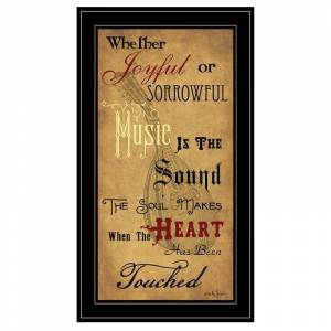 Trendy Decor4U Sound of the Soul by Billy Jacobs Printed Wall Art Wood Multi-Color