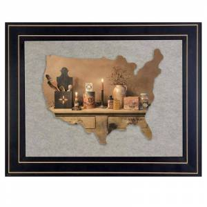 Trendy Decor4U Mamas Pantry by Billy Jacobs Printed Framed Wall Art Wood Multi-Color