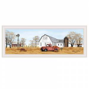 Trendy Decor4U Autumn on Farm by Billy Jacobs Printed Wall Art Wood Multi-Color