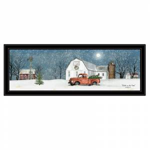 Trendy Decor4U Winter on The Farm by Billy Jacobs Printed Wall Art Wood Multi-Color