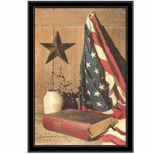 Trendy Decor4U God and Country by Billy Jacobs Printed Wall Art Wood Multi-Color