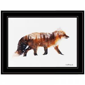 Trendy Decor4U Arctic Red Fox by Andreas Lie Printed Wall Art Wood Multi-Color