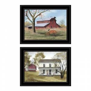 Trendy Decor4U Summers End 2-Piece Vignette by Billy Jacobs Printed Art Wood Multi-Color