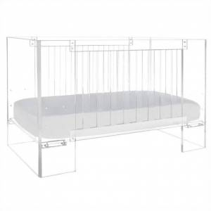 Nursery Works Vetro Crib in Clear Acrylic