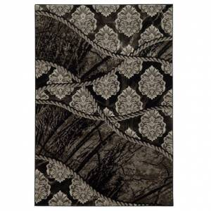 Linon Jewel 8' x 10'4 Rug in Black and Brown
