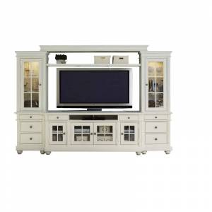 Liberty Furniture Harbor View 110 Entertainment Center in Linen