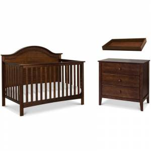 DaVinci 4-in-1 Convertible Crib and Dresser with Removable Changing Tray Set in Espresso