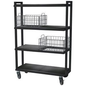 Atlantic Inc Urb Space 4 Shelf Mobile Bookcase in Black