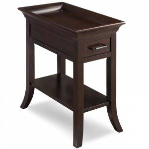 Leick Furniture Leick Favorite Finds Tray Edge End Table in Chocolate Cherry
