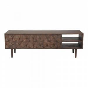 Moe's Home Collection Moe's Pablo 55 TV Stand in Dark Brown